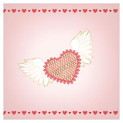 وکتور قلب پرنده