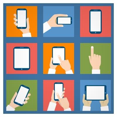 مجموعه وکتور فلت انواع تبلت و موبایل