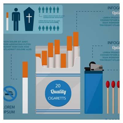 دانلود اینفوگرافیک با موضوع سیگار و مضرات آن