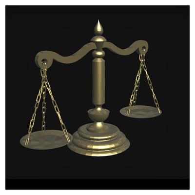 دانلود ویدئوی سه بعدی چرخش ترازوی عدالت
