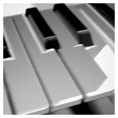کلیپ کوتاه و با کیفیت حرکت کلیدهای پیانو