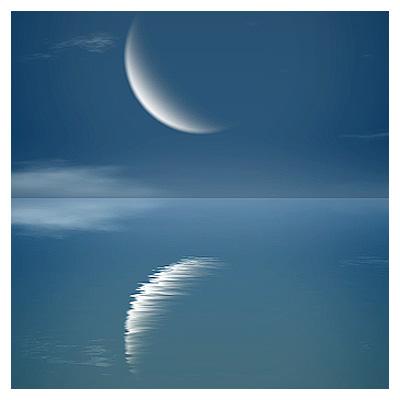 ویدئوی کوتاه و با کیفیت بازتاب نور ماه در آب