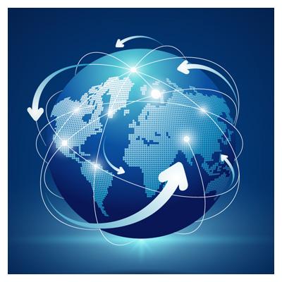 وکتور کره زمین و دیجیتال (ارتباطات دیجیتالی)