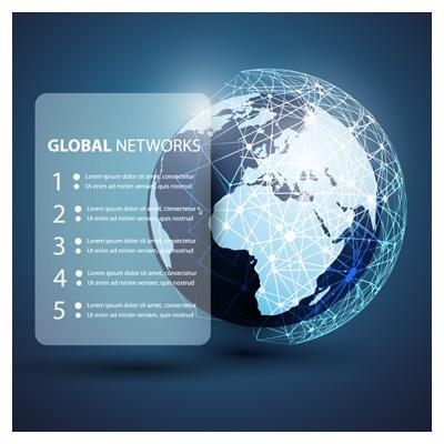 دانلود وکتور با موضوع شبکه های اینترنتی