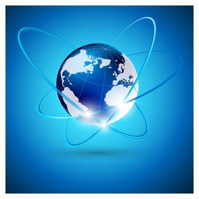 دانلود فایل لایه باز پس زمینه سرمه ای با طرح کره زمین