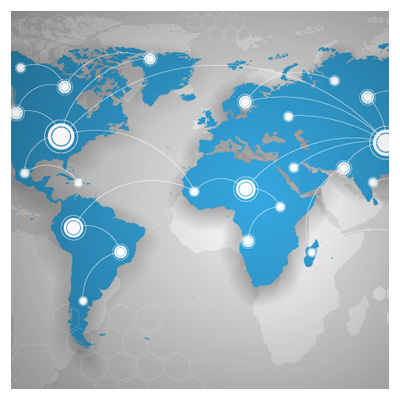 وکتور نقشه زمین و ارتباطات جهانی
