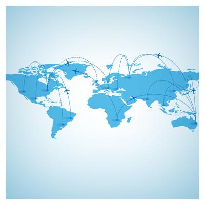 دانلود وکتور نقشه خطوط هوایی روی نقشه