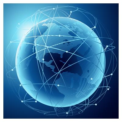 دانلود وکتور لایه باز کره زمین و ارتباطات شبکه