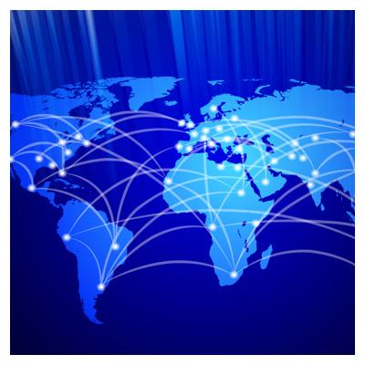 دانلود فایل برداری نقشه زمین و ارتباطات