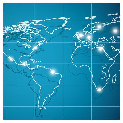 دانلود وکتور خطی نقشه جهان