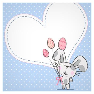 دانلود وکتور خرگوش عاشق