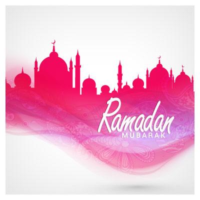 دانلود وکتور مجموعه مساجد با موضوع ماه مبارک رمضان
