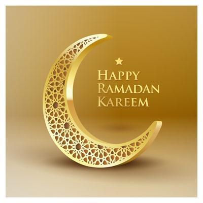 دانلود فایل برداری ماه سه بعدی (ماه رمضان)