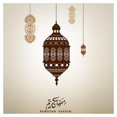 وکتور فانوس های ماه مبارک رمضان