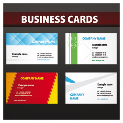 مجموعه چهار کارت ویزیت تجاری
