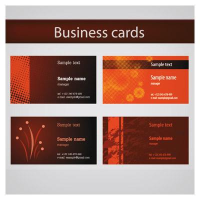 دانلود وکتور کارت ویزیت با تم رنگی نارنجی قهوه ای