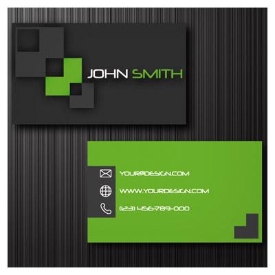 دانلود کارت ویزیت لایه باز دو رو با تم سبز
