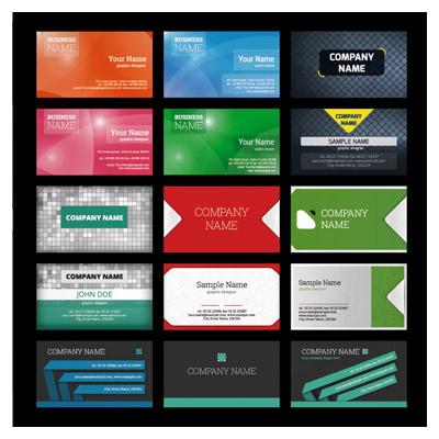 مجموعه 15 کارت ویزیت لایه باز تجاری