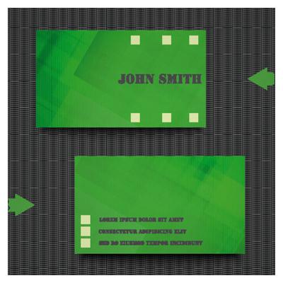 دانلود فایل برداری کارت ویزیت با تم سبز