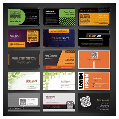 دانلود مجموعه 15 کارت ویزیت تجاری با فرمت وکتور