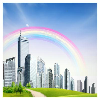 دانلود فایل پی اس دی شهر و طبیعت (شهرهای رویایی)