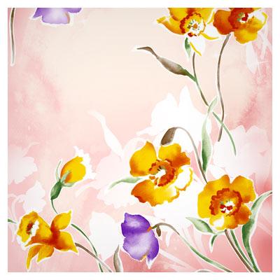 دانلود بکگراند گل آبرنگی بصورت لایه باز و با کیفیت بالا