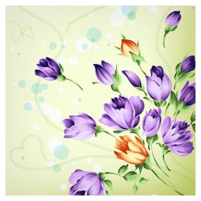دانلود پس زمینه دسته گلهای عاشقانه با فرمت PSD