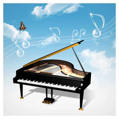 پیانو ، موسیقی ، نوت (المان های لایه باز با موضوع موزیک)