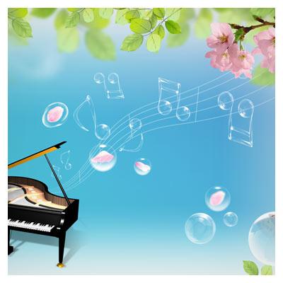 پیانو و ادوات موسیقی با فرمت psd لایه باز