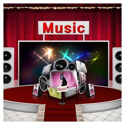 فایل psd استودیو و ادوات موسیقی بصورت لایه باز با کیفیت بالا