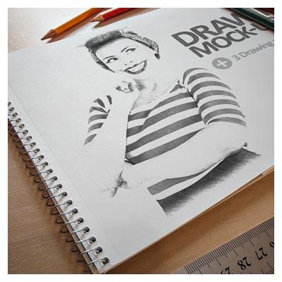 3D Drawing mockup (psd)