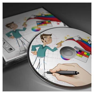 دانلود موکاپ کاور و لیبل سی دی بصورت لایه باز (psd)