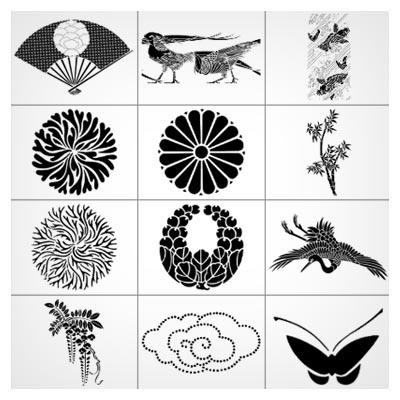 براش با کیفیت مجموعه المان و طرح های ژاپنی