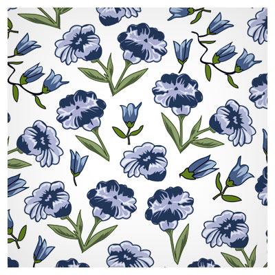وکتور پترن گل های زیبا (flower pattern)