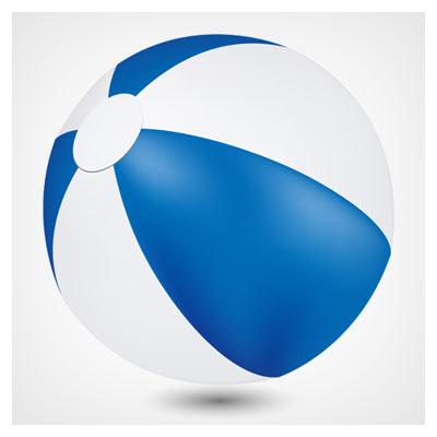 دانلود وکتور توپ پلاستیکی آبی و سفید