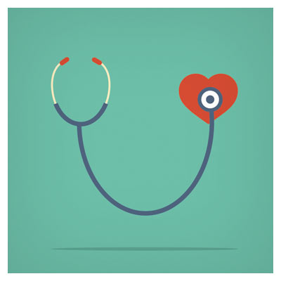 فایل وکتور گوشی قلب (Stethoscope and heart)