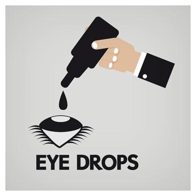 وکتور ریختن قطره چشم در چشم