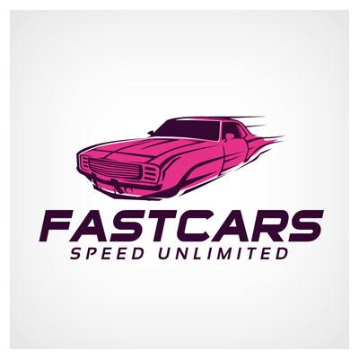 فایل برداری لوگوی آماده ماشین (Fast Car Logo)