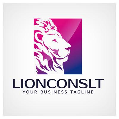لوگوی آمده شیر جنگل (Lion Logo) بصورت وکتور