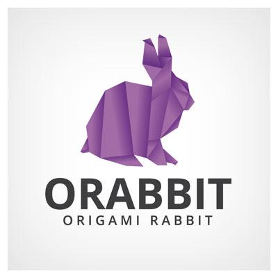 فایل برداری لوگوی آماده خرگوش اوریگامی