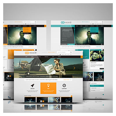 Web Template Mockup (psd file)