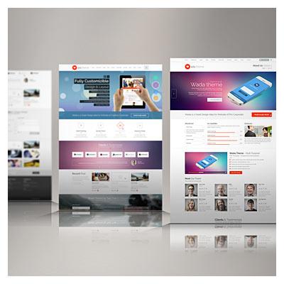 دانلود موکاپ تصویر ، نمایش سه بعدی صفحات وبسایت