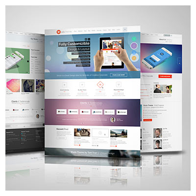 Template Site Mockup (PSD File)