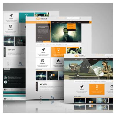 پیش نمایش یا تصاویر موکاپ نمایش قالب های وبسایت