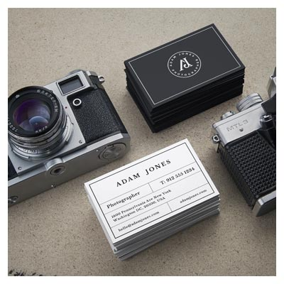 موکاپ کارت ویزیت تبلیغاتی برای عکاسان