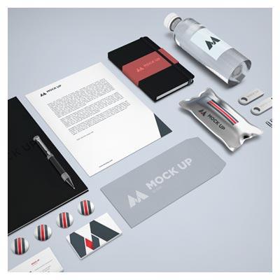 دانلود موکاپ مجموعه ست اداری شامل سربرگ ، سررسید ، پاکت و ...