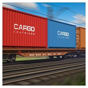 عکس قطار و کانتینرهای باری با کیفیت بالا