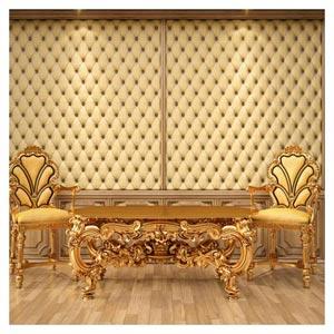 دانلود عکس مبلمان سلطنتی (مبلمان طلایی چوبی)