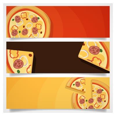 دانلود مجموعه سه بنر با موضوع پیتزا (pizza banner)