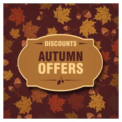 فایل لایه باز بنر وکتوری آف ویژه پاییز (autumn off)